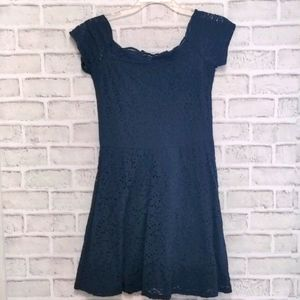 3/$20 Hollister Navy Lace A Line Dress Small